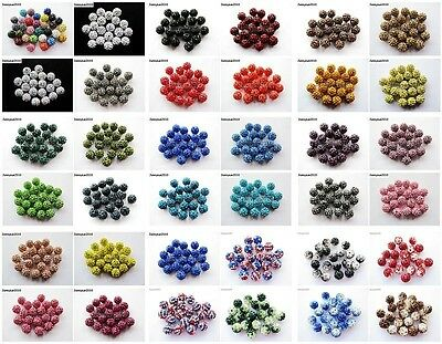 10Pcs Quality Czech Crystal Rhinestones Pave Clay Round Disco Ball Spacer Beads 2