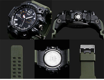 REGNO Unito Da Uomo smael Tactical Dual Display SHOCK Digital Sports Divers 10