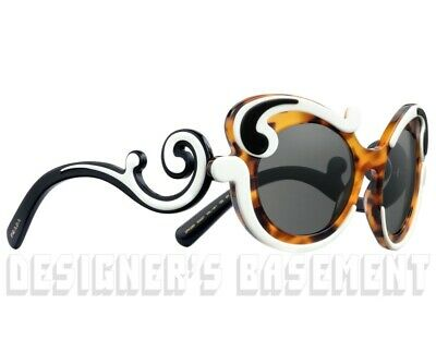 c7ad5f4d3604 ... PRADA Minimal Baroque SPR 23NS Havana Ivory & Black Sunglasses NIB  Authentc $620 2