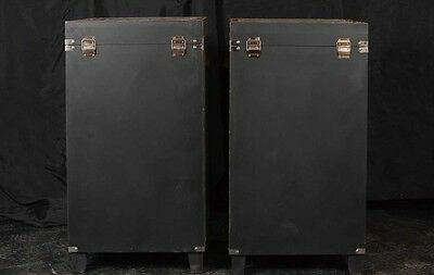 Pair Campaign Industrial Nightstands Chest Drawers Bedside Tables Luggage Trunk 3