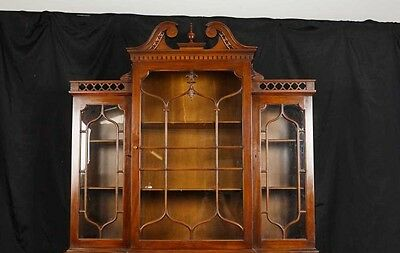 Victorian Gothic Breakfront Bookcase Mahogany Bookcases Chippendale 4