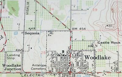 Map Of California Visalia.1952 Exeter California Visalia Original 15 Minute Usgs Topographic Topo Map