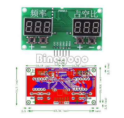 6Hz-100KHz PWM Pulse 0-99% Frequency Square Wave Signal Generator Duty Cycle