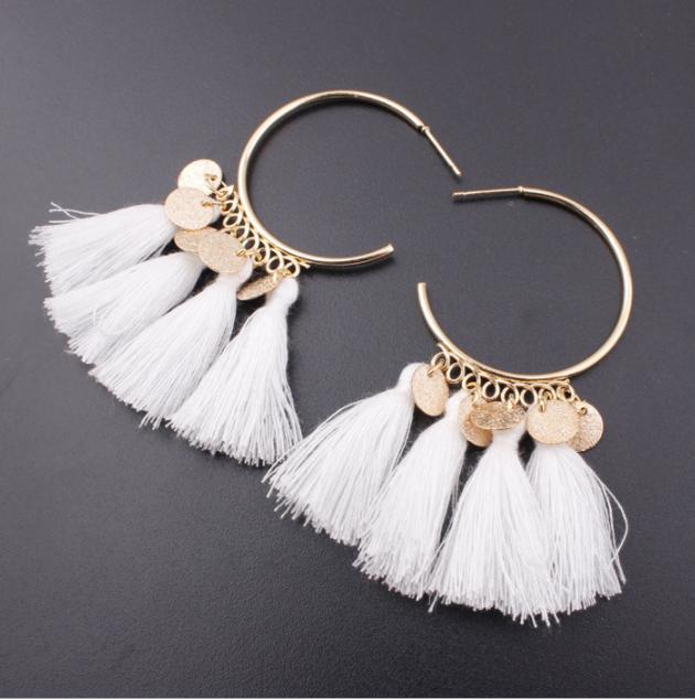 Fashion Bohemian Earrings Women Vintage Long Tassel Fringe Boho Dangle Earrings 7