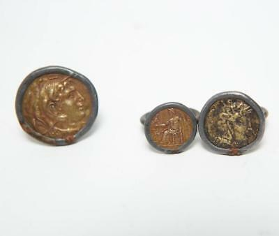 Archaistic Coin Rings, Greek- & Roman-Manner, 3 Lot 203