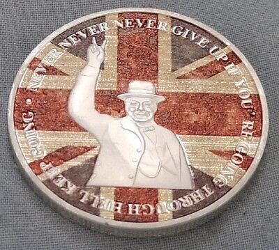 Winston Churchill Gold & Silver Coin Union Jack World War II 1874 1965 I Sir UK 5
