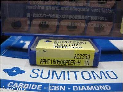 Sumitomo  APMT160508PDER-H ACZ330     10pcs carbide inserts