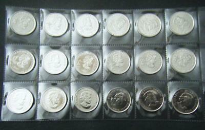 2007 2008 2009 2010 Canada Vancouver Olympic 18 coin set Quarter 25 cent 25c 2
