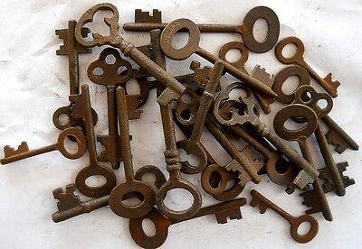 Rusty ornate Skeleton 1800's keys 25 pc lot steampunk #220725 6