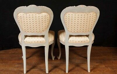Set 8 French Provincial Painted Dining Chairs Rustic Furniture 10