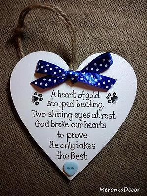 PET MEMORIAL-Dog-Cat Indoor Wooden Personalised Plaque- Blue 4