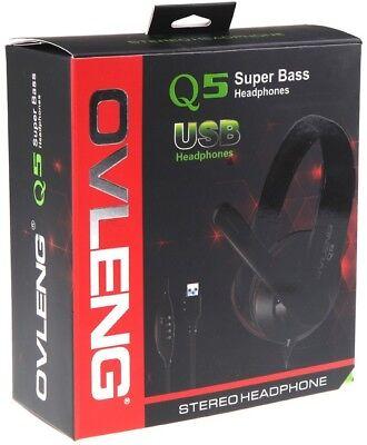 Cascos auriculares con micrófono gaming para pc cable usb OVLENG Q5 2