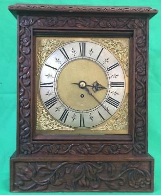 Antique 8 Day Fusee Bracket Clock With Tudor Style Case And Rococo Spandrels 2