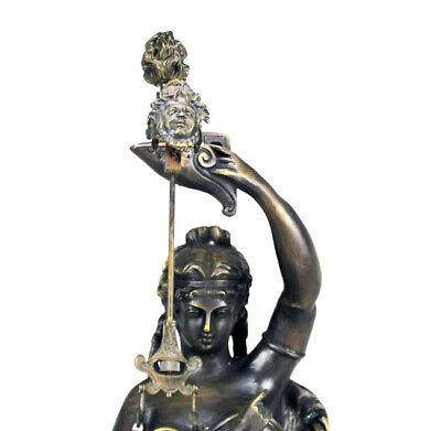 Rare Mystery Brass Lady Cherub Upside Down Chain Ball Swinger Swinging Clock 5
