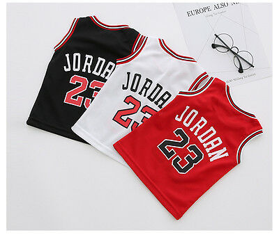 d5572fe06 UK KIDS BABY Boys Girls  23 Michael Jordan Bulls Basketball Jerseys ...