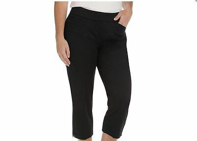 f9d88c5b ... NWT Women's Lee Natural Fit Kennedy Style-Up Pull-On Capri's 18 plus  Black