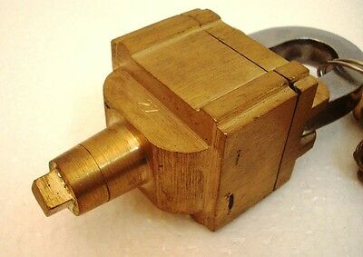 Brass Padlock Square Trick Puzzle Lock  with 6 Keys 3