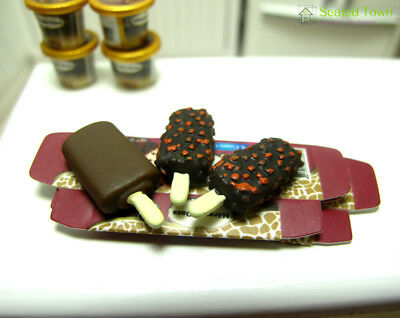 3 Dollhouse Miniature Food Dessert Chocolate Ice cream Sticks 1:12 Fridge Decor 9