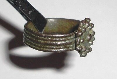 Medieval Bronze Ring. Jewelry Artifact 2