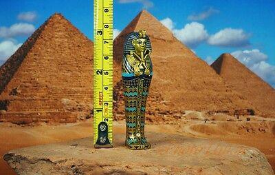 K1166 A Egypt Egyptian Civilization Pyramid Pharaoh King Tut Mummy Statue Figure