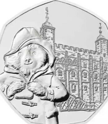 UK Coin 50p Pence 2019 Paddington At The London Tower New UNC From Sealed Bags 3