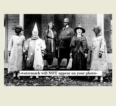 Scary Vintage Creepy Halloween PHOTO Freak Scary Strange Witch Clown House Porch 2