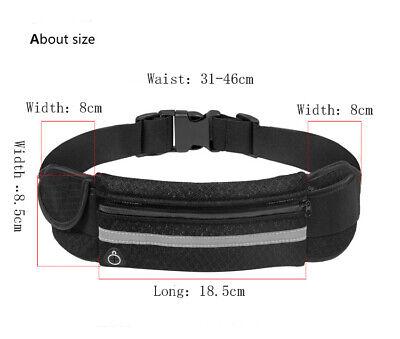 Running Belt Unisex Sport Jogging Phone Keys Mobile Money Bum Bag Waist Travel 3