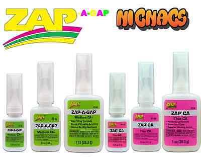 Zap a Gap Glue C A Medium & Thin Quick Setting SuperGlue Cyanoacrylate by Pacer 5