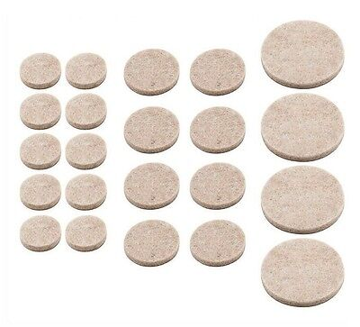 20mm HEAVY DUTY SELF ADHESIVE FELT PADS 48 PER SHEET FURNITURE PROTECTION