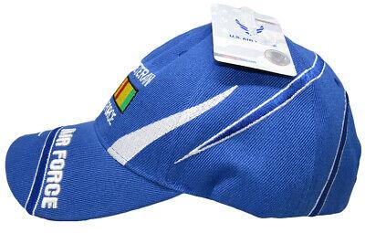U S  AIR FORCE Vietnam Vet Veteran Ribbon Royal Blue Embroidered Ball Cap  Hat