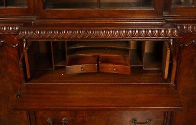 Victorian Gothic Breakfront Bookcase Mahogany Bookcases Chippendale 5
