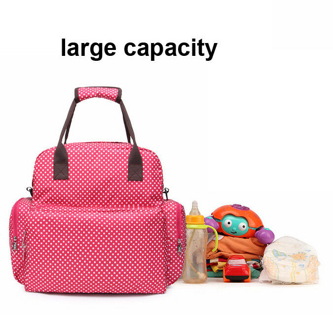 Large Capacity Mummy Bag Baby Diaper Nappy Maternity Changing Travel Backpack US 7