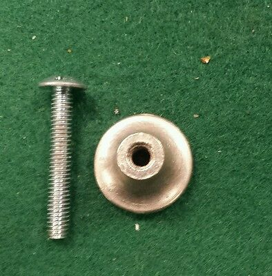 "Brushed nickel chrome plated knobs pulls 3/4""  new screws up to 24 available 4"