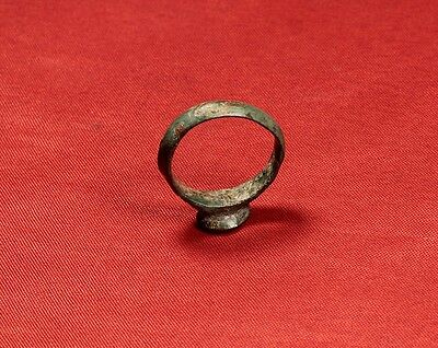 Rare Medieval Knigth's Seal Ring, Finger Ring, 11. Century, Stag Stamp 5
