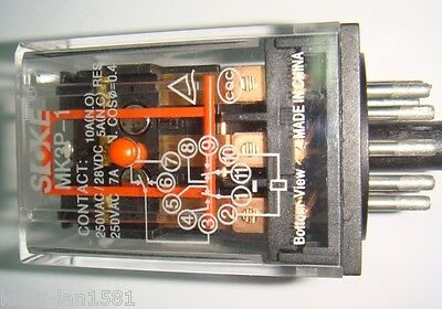 1 x mk3p-5-i Universal Relay 52,5mm 34,5mm 34,5 mk3p5-i OMRON 1pcs