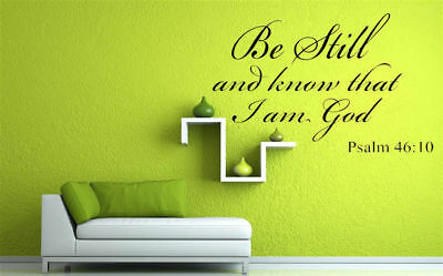 Bible Verse Wall Decals Christian Quote Vinyl Wall Art Stickers Scripture Decor 6