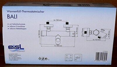 Eisl Bali Wannenthermostat Wannenarmatur Thermostat Bad armatur Verbrühschutz