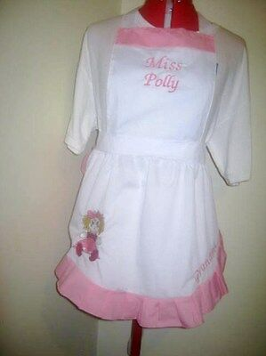 KIDS MISS POLLY had a DOLLY COSTUME APRON /& MOP TOP HAT Made to Fit 1-12 years