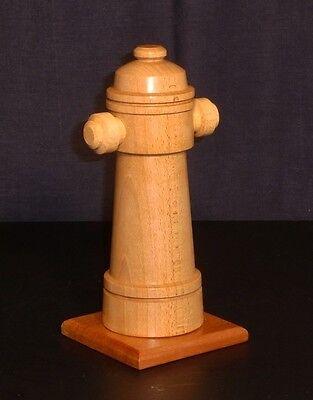 Hydrant , Feuerwehr ,Geschenkidee, gedrechselt, aus Holz handgefertigt 2
