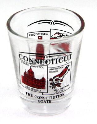 Connecticut State Scenery Red New Shot Glass Shotglass 3