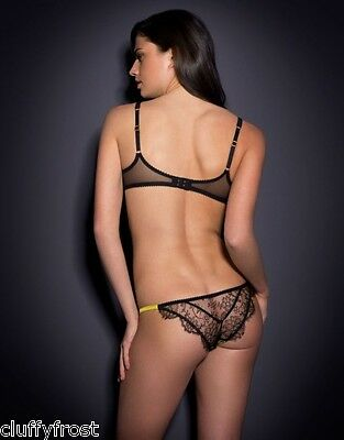 ee24a7b89a ... Agent Provocateur Black   Mustard Leisa Bra Most Sizes   2 Small 8-10  Brief