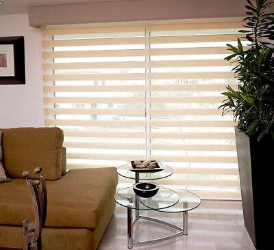 Doppelrollo Klemmfix ohne Bohren Duo Rollo Zebra Seitenzug Fenster Tür #324-a 10