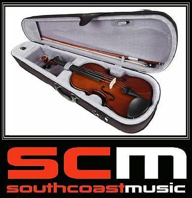 VALENCIA SV114 4/4 Full Size Violin Outfit inc Case, Bow, Rosin & Standard Setup