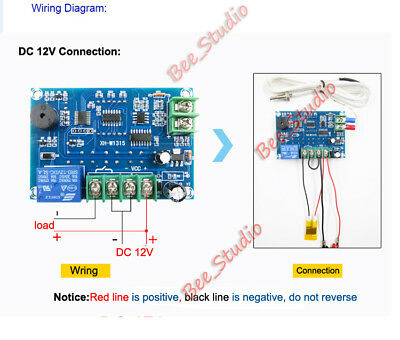 DC 12V High Temperature K-Thermocouple Digital Thermostat Temp Controller Switch 2