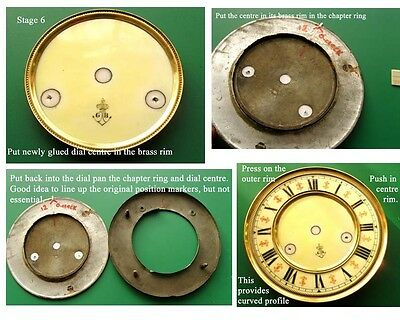 Buyers Ref:F,  Replacement laminate White  Vienna Regulator Clock Dial option 6 7