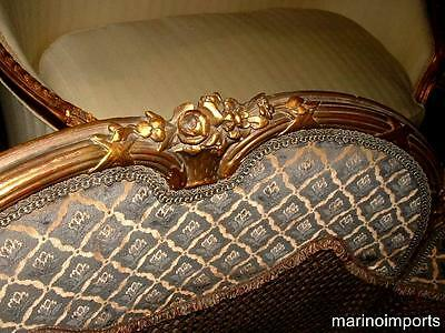 19th C. French Louis XVI Cane Corbeille Settee Chair~ 10