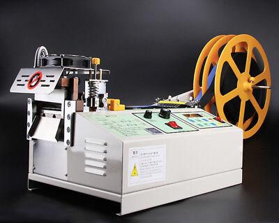 110V US Automatic Computer Control Hot Cold Textile Weave Belt Cutting Machine 3