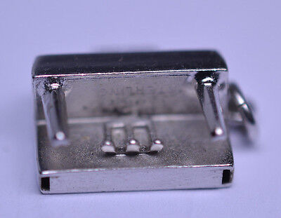 Sterling Silver 3D Musical Instrument Upright Piano Charm