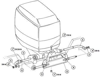New Hydraulic Outboard Motor Steering Kit Suits Yamaha Honda