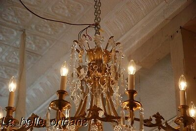 French Crystal Chandelier 15 Lights. 5 Ft Tall , Must See!! 3